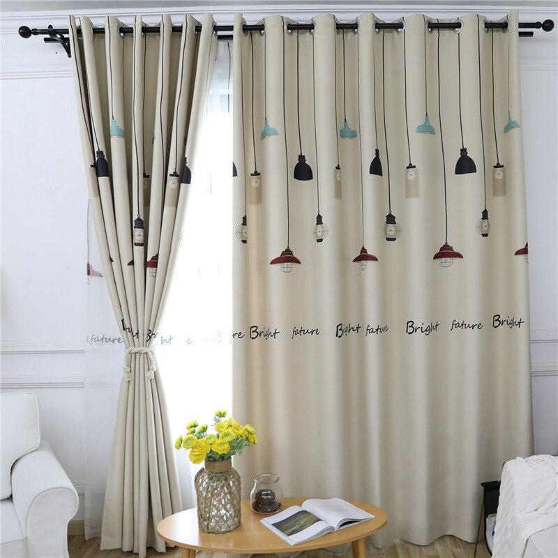 Cortinas opacas beis claro para niños, dormitorio elegante, puerta de ventana, tela de poliéster, protección ambiental, sala de estar, cocina