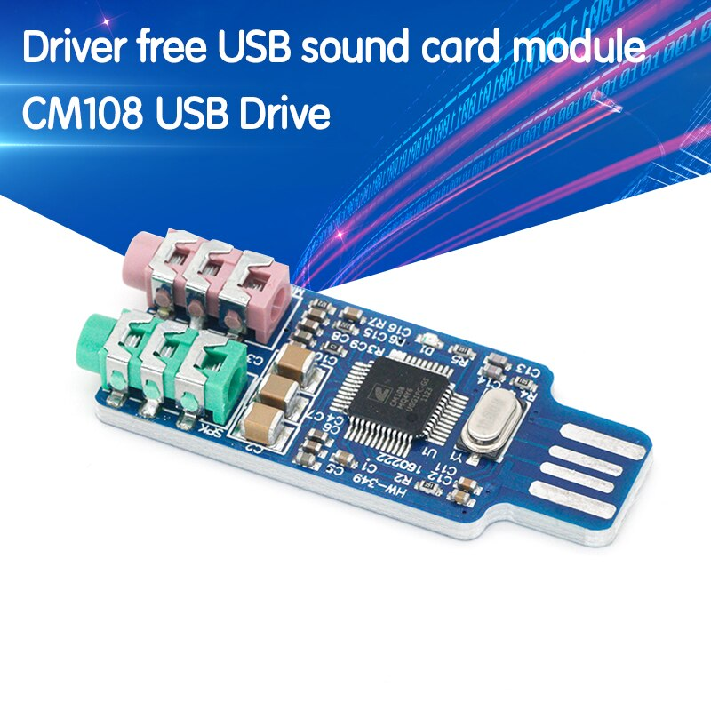 CM108 USB Drive Free Sound Card Laptop Computer External Sound Card Module - L059 New hot