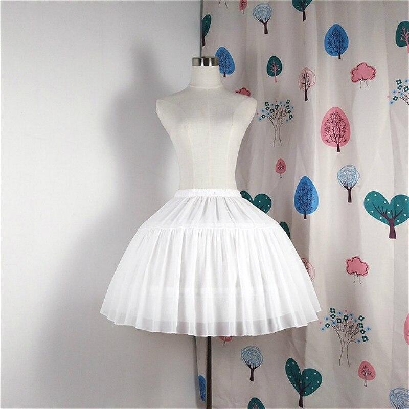 Adjustable Lolita Skirt Daily Black And White Super Puffy Soft Lolita Wedding Skirt Pannier Loli Bustle Sweet Anime Cosplay
