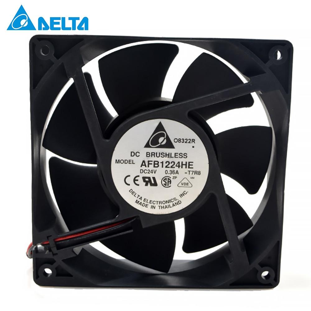 Original for delta AFB1224HE 24V 0.36A 12cm 12038 large air frequency converter cooling fan 148.34CFM 3500RPM new nmb original 12038 24v 0 46a 4715kl 05t b40 120 120 38mm cooling fan