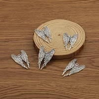 10pcs antique silver color eagle wing charms connector pendants for diy bracelet necklace jewelry making accessories
