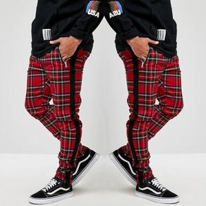 Scottish Style Plaid Sweatpants Men Street Fashion Trousers Casual Sports Joggers Pants