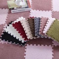 10pcs soft warm puzzle plush carpet bedroom living room pad baby bedroom crawling rug home decor