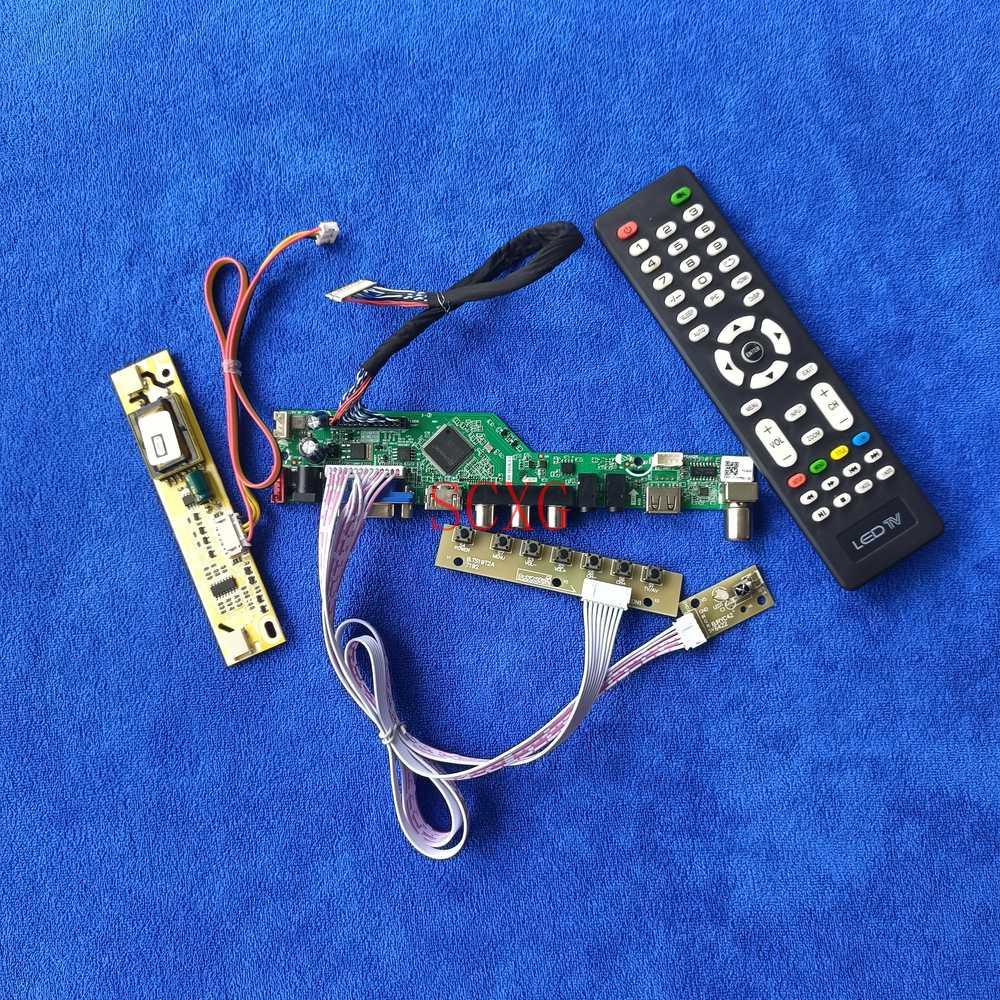30-Pin LVDS لتقوم بها بنفسك عدة LCD مصفوفة محرك مجلس إشارة التناظرية صالح LQ164M1LA4A/LQ164M1LA4AB 1920*1080 USB VGA AV HDMI-متوافق 2CCFL