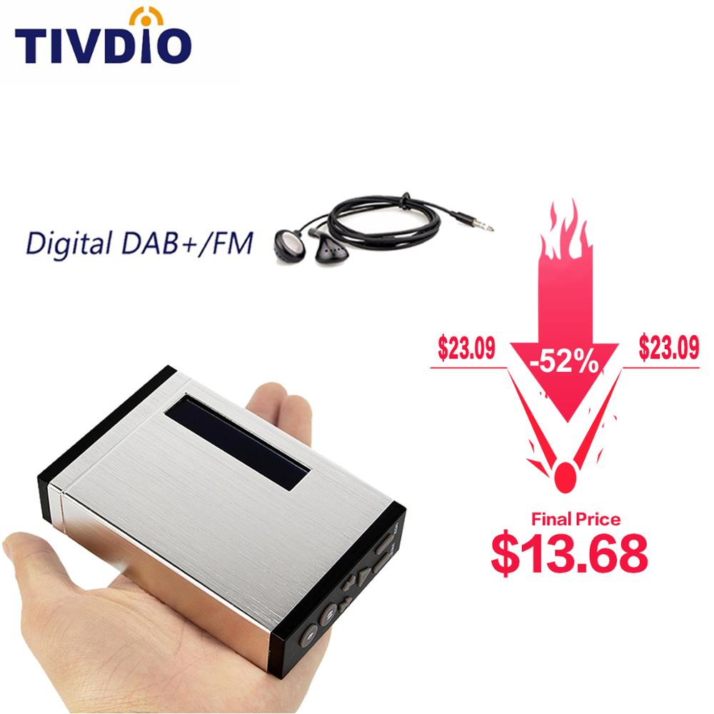 FM RDS Radio Pocket Digital DAB Receiver Portable DAB+/DAB Radio Receiver+ with Earphone TIVDIO T101 F9204D