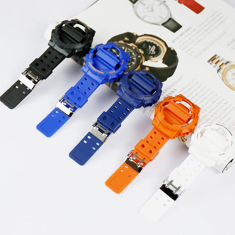 Accesorios de resina mate correa para Casio G-SHOCK GD-GLS-100 110, 120 de los hombres y de las mujeres reloj deportivo con shell conjunto
