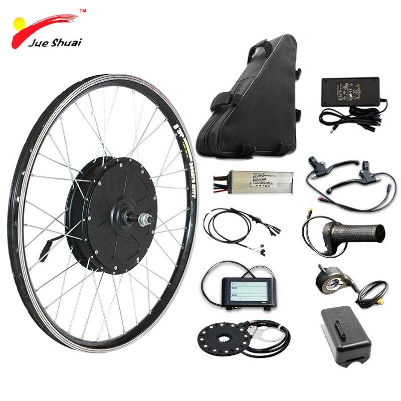 60 KM/H 48V 1500W Kit de conversión de bicicleta eléctrica con Li-Batería...