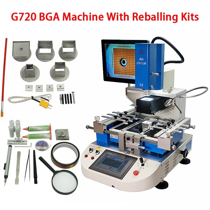 Semiautomático G720 máquina para bga reball station 3 zonas BGA alinear soldadura Estación de reparación con BGA Reballing Kit 4800W