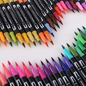 120 Цвета кисть для рисования акварель Fine Liner двойной набор наконечников для школы товары для рукоделия лучшего эффекта для рисования и живописи