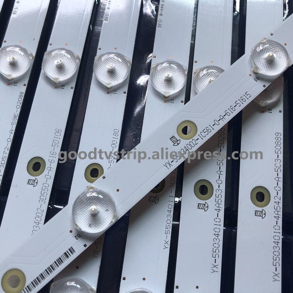 14 قطعة LB55034 V0_05/06 VIZ IO LED الخلفية شرائط VI ZIO D55U-D1 LTC7UCAS E55-C1 LTCWSHAR E55-C1 LTMWSHBR