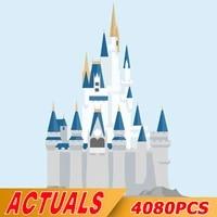in stock 16008 4080pcs movie princess castle building blocks assemble bricks educational city toys kids christmas gifts 71040