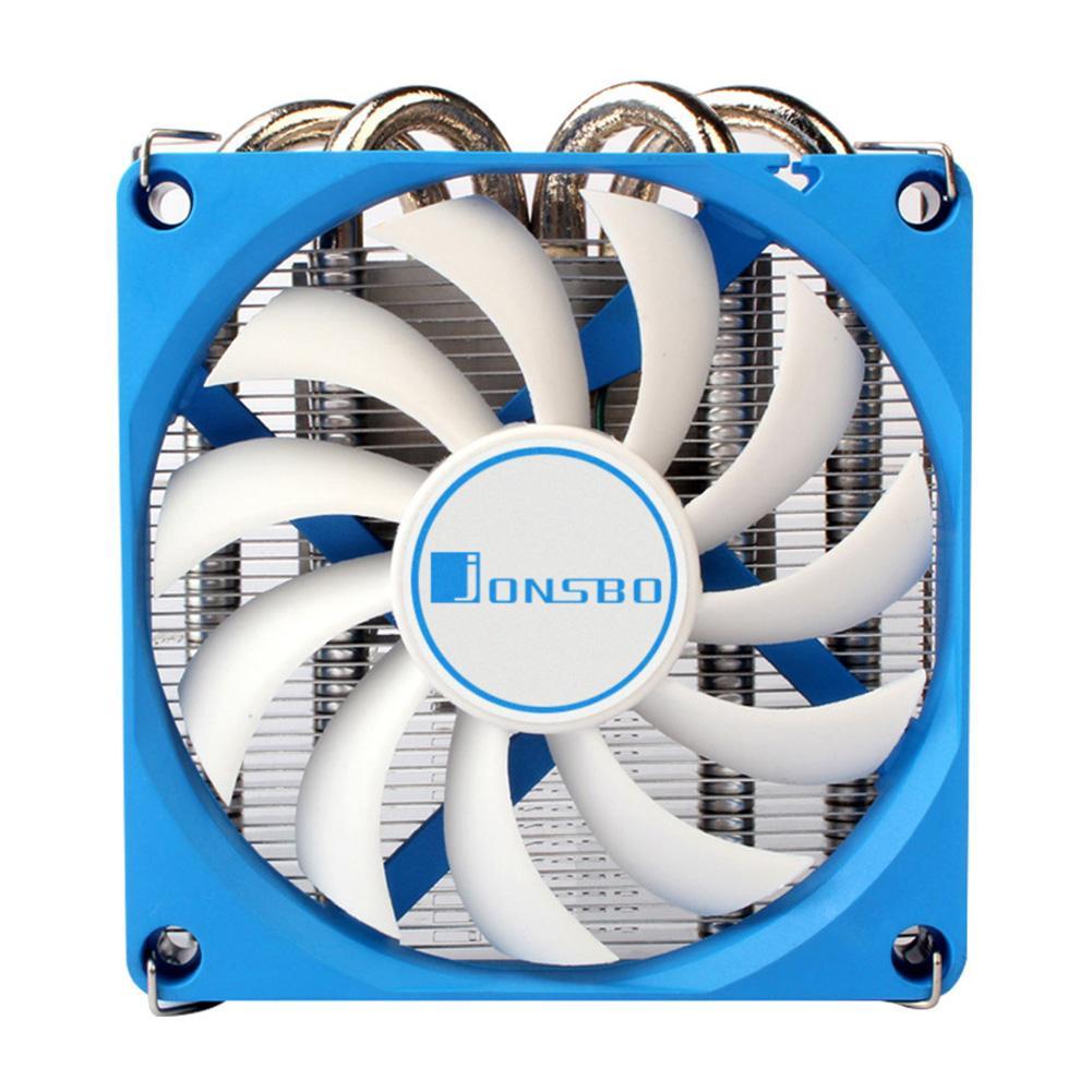 Jonsbo HP-400 CPU Cooler 4 tubos de calor radiador CPU ventilador de refrigeración para HTPC caja todo en uno ordenador Ultra-Delgado CPU Cooler
