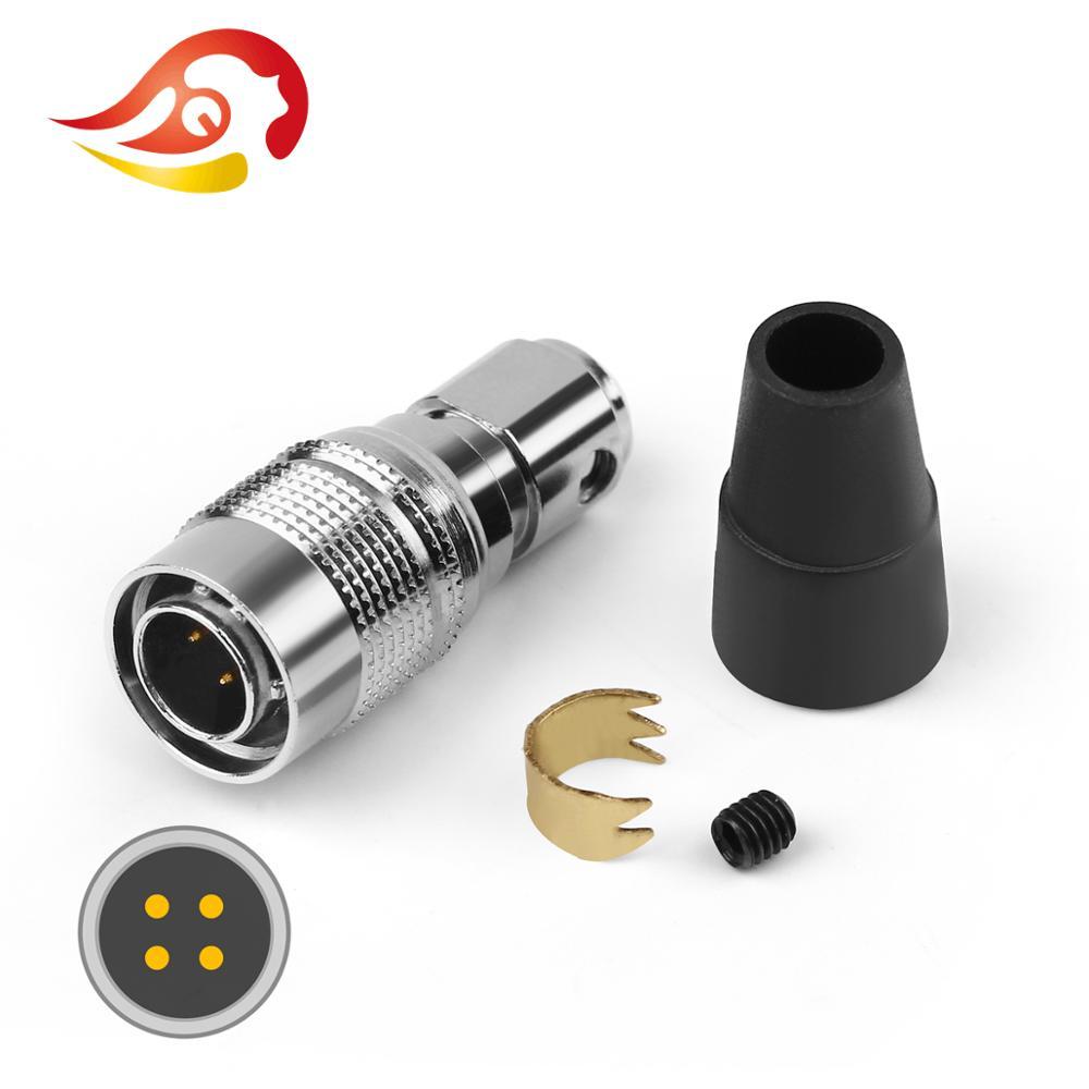 QYFANG 4 Pin metalowa wtyczka ze stopu słuchawki gniazdo audio drutu adapter złącza dla pana głośniki eter alfa pies Prime słuchawki hi-fi