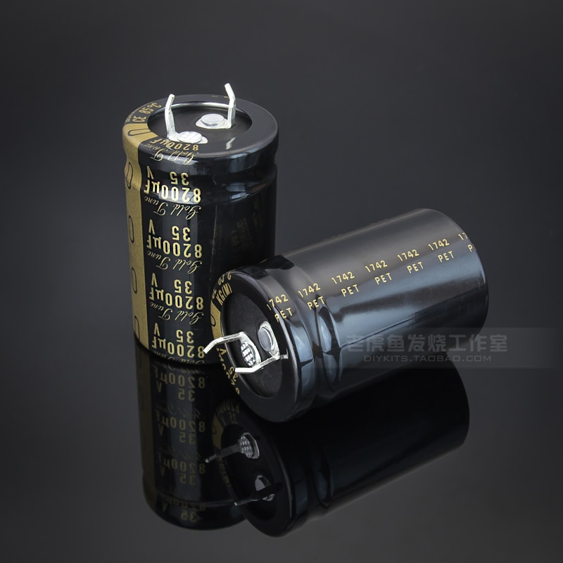 2 uds NICHICON KG tipo 35V8200UF 25x40mm oro melodía 8200UF 35V amplificador de audio de 8200 uF/35 v TypeI 8200U