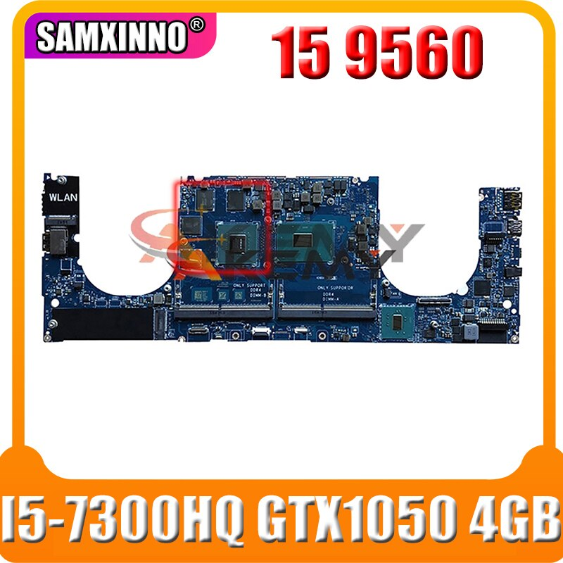 Akemy لديل XPS 15 9560 اللوحة المحمول CN-0YV12N 0YV12N YV12N LA-E331P I5-7300HQ GTX 1050 4GB DDR4