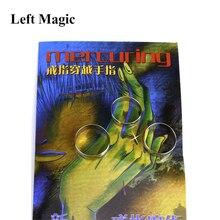 MERCURING by Jay Sankey magic tricks ring through finger magic props Magia Trick Toys Close up Magie