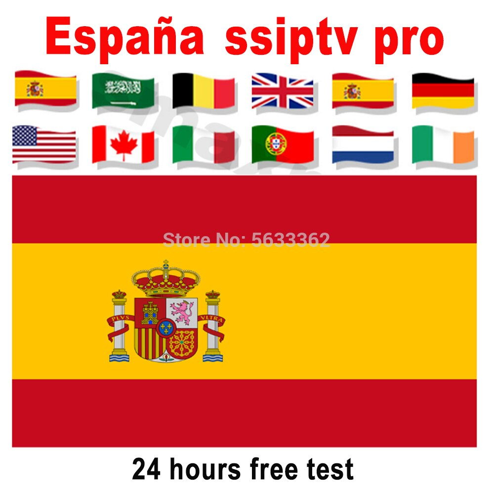 SSIPTV Spain 1 Year IPTV M3U Subscription Spanish Portugal Sweden UK Israel Poland for Smarters TV Box Android APK