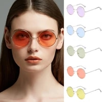 round sea color round metal sunglasses men round metal mens sunglass brand designer retro glasses uv400 sunglasses for women