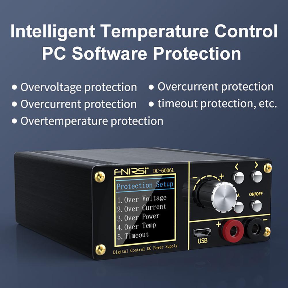 DC6006L امدادات الطاقة قابل للتعديل تيار مستمر للبرمجة تنحى وحدة التحكم الرقمي 1.44 بوصة TFT شاشة عالية الوضوح اللون