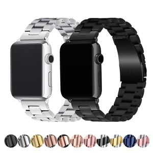 stainless steel strap for apple watch band 42mm 38mm apple atch 4 5 44mm 40mm iwatch series 5/4/3/2/1 bracelet watchband