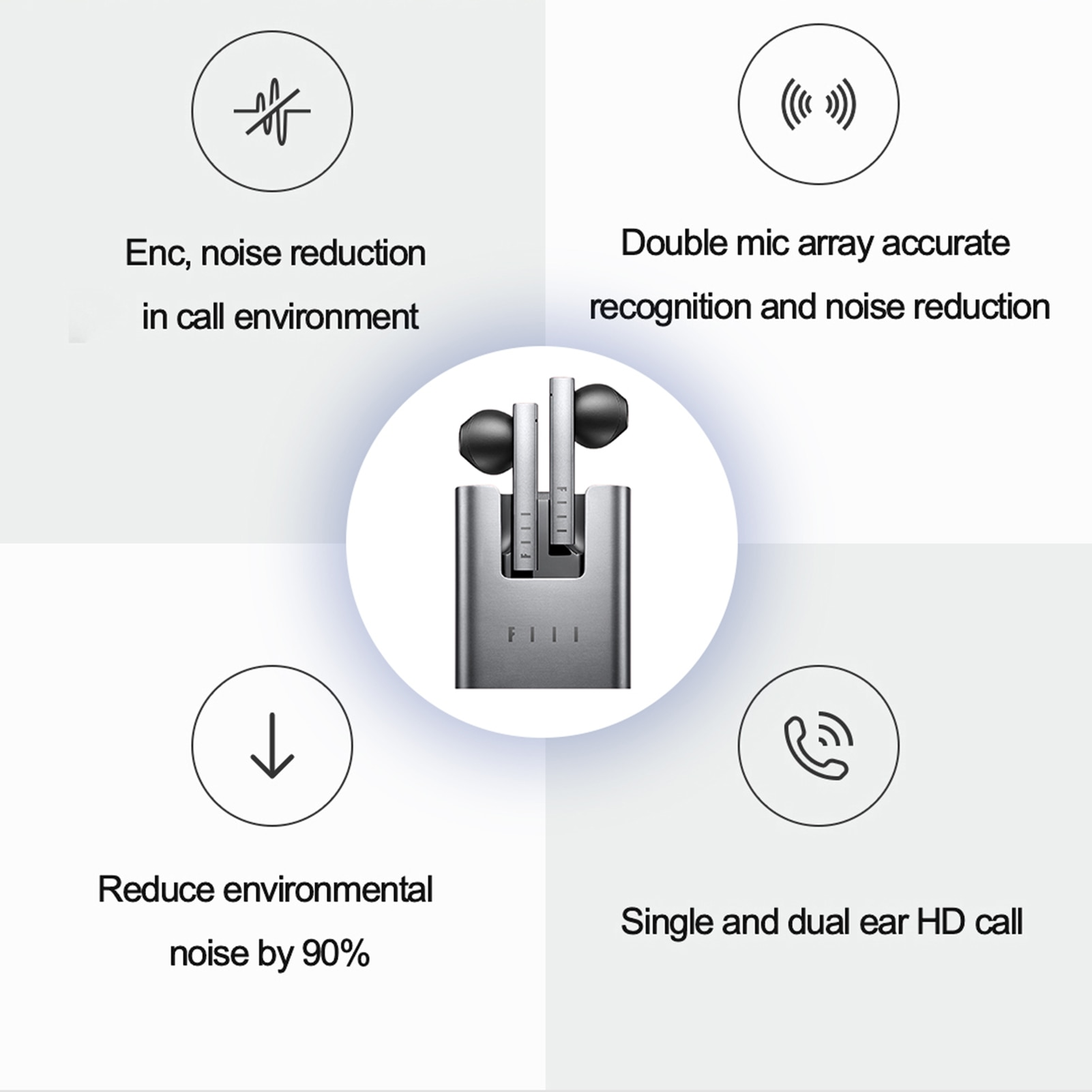 New FIIL CC 2 CC2 Wireless Bluetooth 5.2 Earphone Charging Case TWS Gaming Headset Noise Canceling Ear Buds Earphone With Mic enlarge