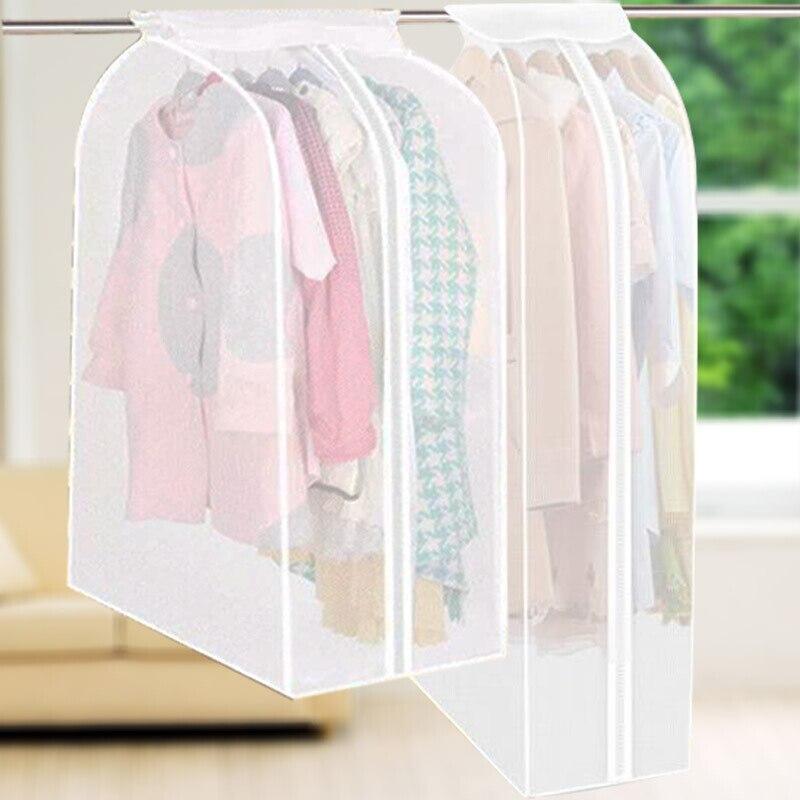 교수형 옷 먼지 커버 의류 보관 커버 드레스 복장 복장 가방 홈 보관 가방 옷장 의류 클로버