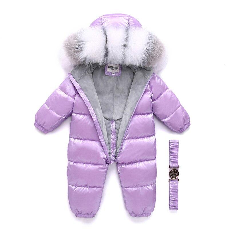 Детский зимний комбинезон на утином пуху для мальчиков до-30 градусов русская верхняя одежда утепленная куртка водонепроницаемый комбинезон пальто для маленьких девочек