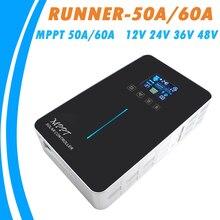 MPPT Solar Charge Controller 50A 60A 12V 24V 36V 48V Auto Backlight LCD Newest Intelligent Solar Panel Regulator Runner-60A 50A