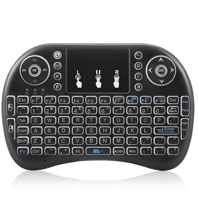 2020 teclado sem fio backlit ar mouse 2.4 ghz mini teclado portátil almofada de toque para pc/almofada/andriod caixa de tv/google tv caixa/