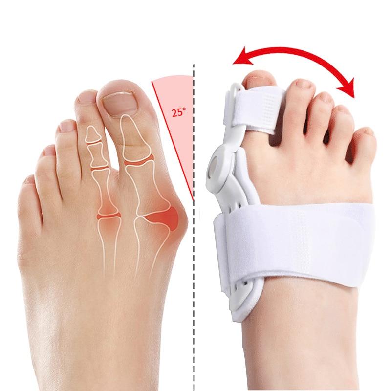 2 шт., корректор вальгусной деформации большого пальца ног, разделитель пальцев ног, разделитель для ноги, корректор большого пальца ног