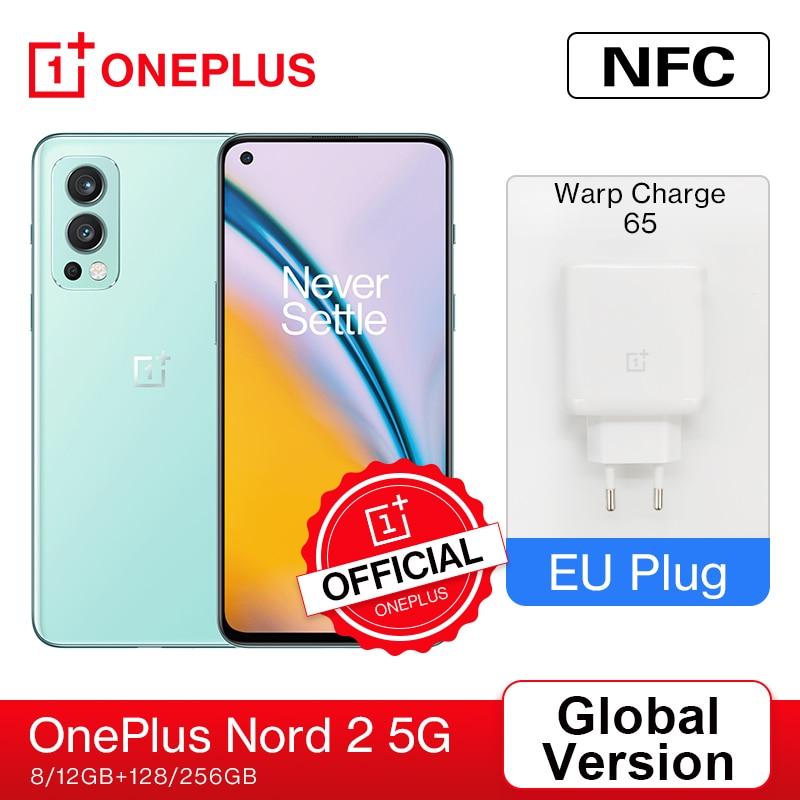 Смартфон OnePlus Nord 2 5G EU 8 Гб 128 ГБ MTk Dimensity 1200-AI 50MP AI камера OIS Warp Charge 65 4500 мАч аккумулятор; (08.23 код: GIFTWEEK1500(15000-1500) GIFTWEEK1700(20000-1700) )