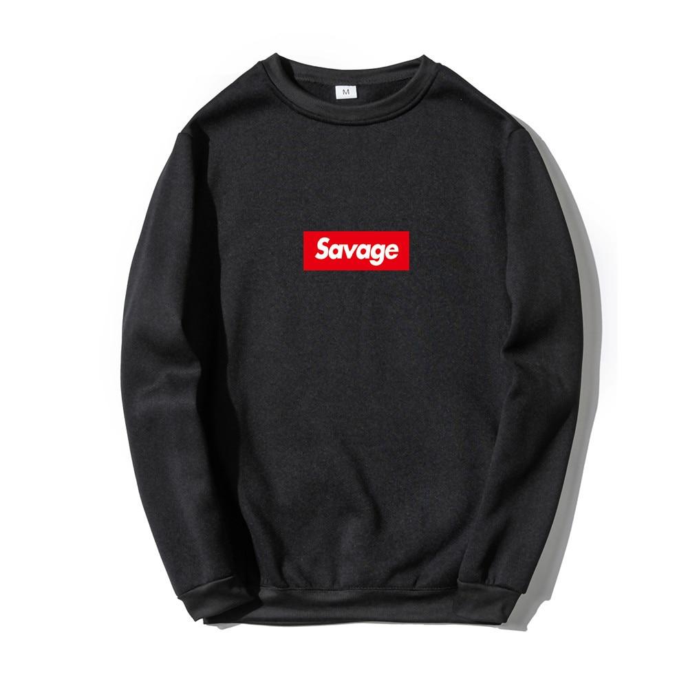 Black Red White Savage Printing Sweatshirt Fashion Long Sleeve Spring Autumn Sweatshirt Korean Hot Pullover tops Streetwear