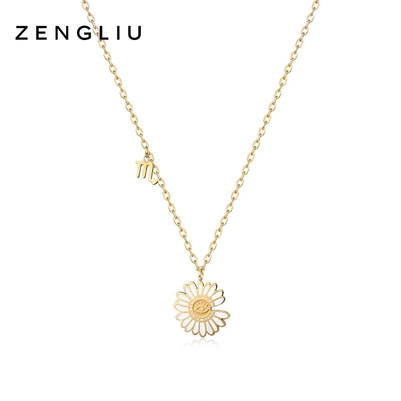 Zengliu Designer Little Daisy Necklace Female Ins Trendy Simple Dignified Flowers Decorative Pendant