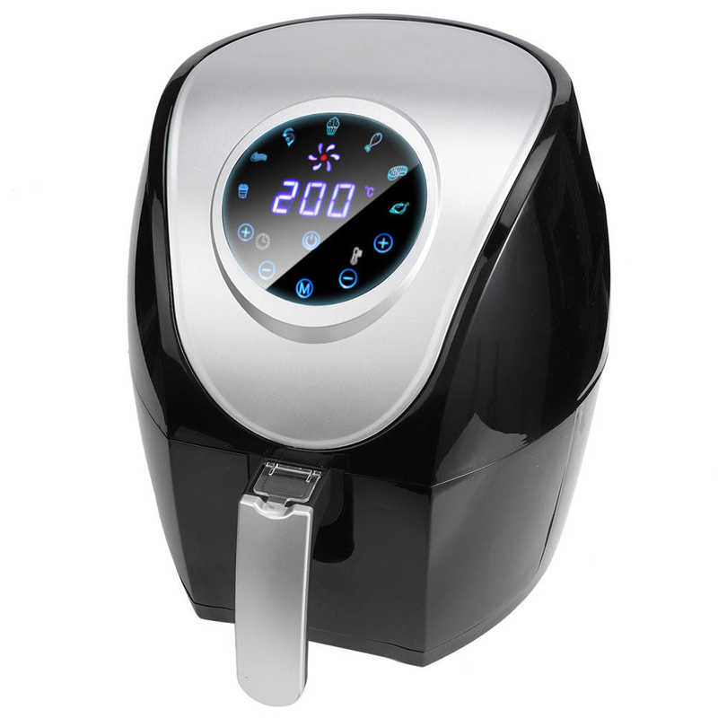 5L Electric Air Fryer Oven Smart Touch Screen Electric Deep Fryers Household Smoke Free Air Fryer Multi-Functional Oven