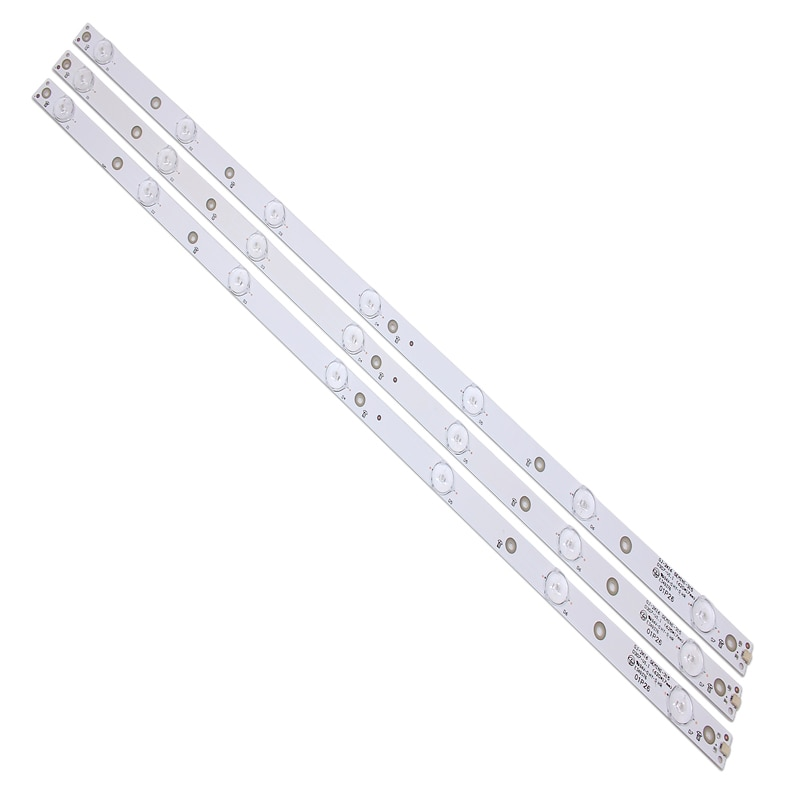 Nouveau 1set = 3 pièces 7LED (3 V) 620mm LED bande de rétro-éclairage pour KDL-32R330D 32PHS5301 32PFS5501 LB32080 V0 E465853 E349376 TPT315B