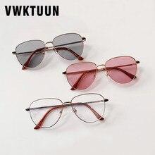 VWKTUUN Sunglasses Women Vintage Optical Glasses Frames Men Piolt Anti Blue Light Glasses Optical Gl