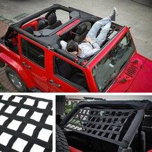 1pc toit hamac noir maille filet de chargement pour Jeep Wrangler YJ TJ JK JL pratique