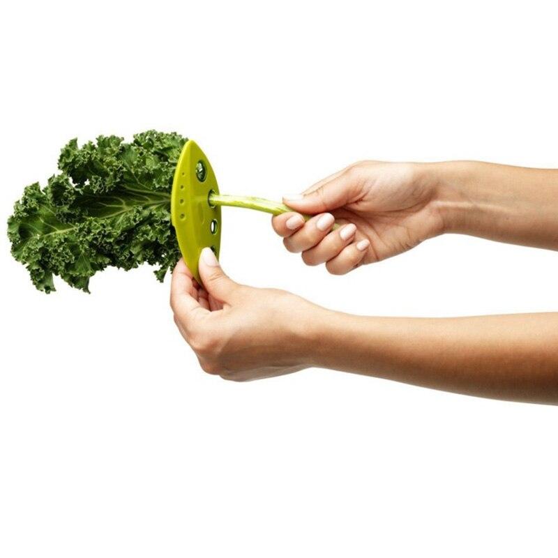2 uds. Kale charco Collard verdes hierbas Stripper Looseleaf hojas sueltas utensilios de cocina C1796 g