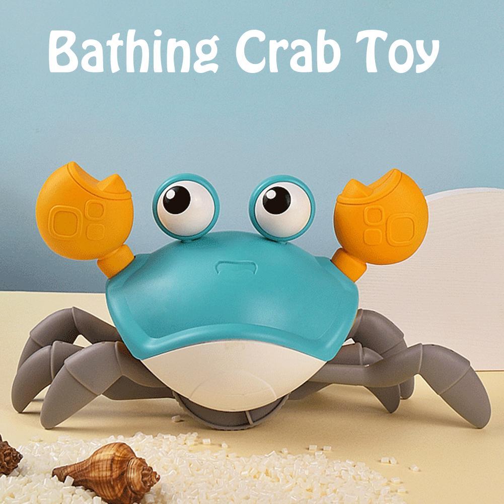 Juguetes de baño Big Crab relojería bebé Infante agua juguete clásico juguetes de playa para bebé Drag Baby bañera de verano juguete para niños