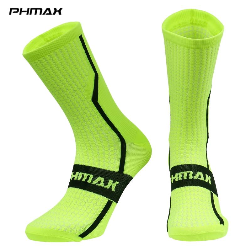 Phmax 7 cores unisex meias de ciclismo verão mtb bicicleta meias profissional esportes ao ar livre corrida mountain bike ciclismo meias