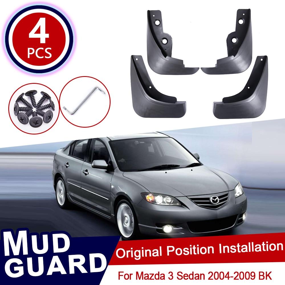 4pcs Car Mud for Mazda 3 BK Sedan Saloon 2004 2005 2006 2007 2008 2009 Flaps Front Rear Mudguard Splash Guards Fender Mudflaps