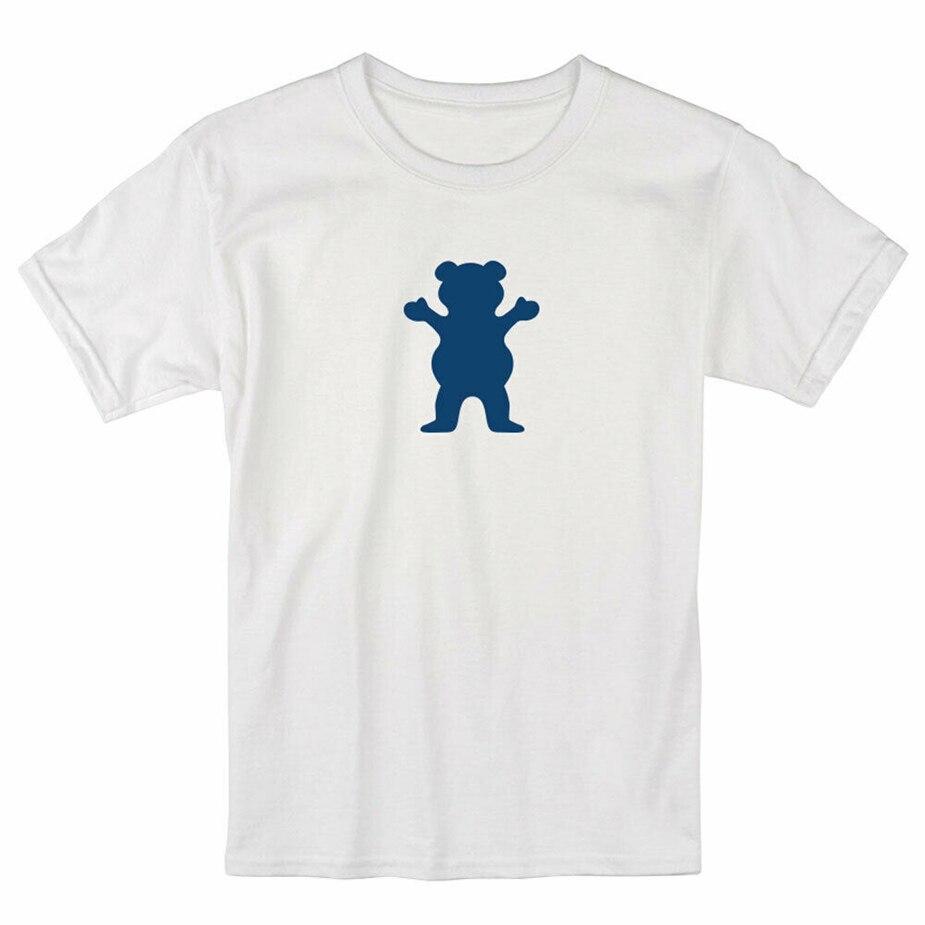 Grizzly Griptape hombres Og oso Camiseta de manga corta ropa blanca ropa camiseta personalizada pantalla impresa camiseta