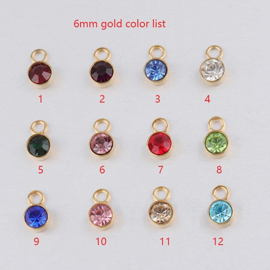 60 unids/lote 12 diamantes de imitación de colores surtidos que simula el cubo de cristal colgante encantos piedra de nacimiento cuentas accesorios de joyería DIY 6mm
