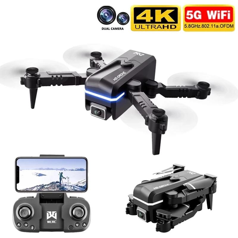 Mini Dron Kk1 con cámara 4k Hd, cuadricóptero teledirigido Profesional, Wifi, Fpv, juguete al aire libre, helicóptero de juguete de altura fija, novedad de 2021