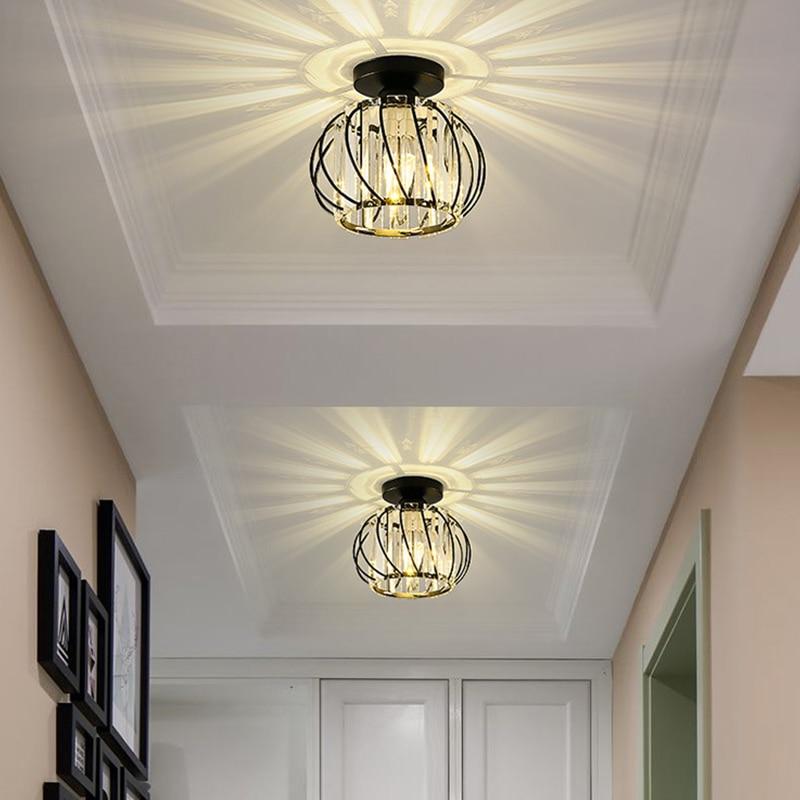 luminaria de teto de led estilo nordico personalizada luz criativa de entrada cristal