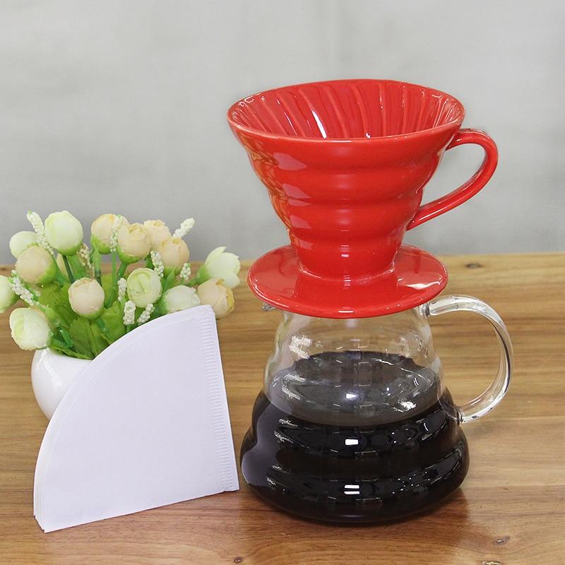 300ml קרמיקה קפה טפטף עבור Japness V60 סגנון קפה טפטוף מסנן כוס קבוע יוצקים מעל קפה יצרנית עבור 1-2 כוסות 01