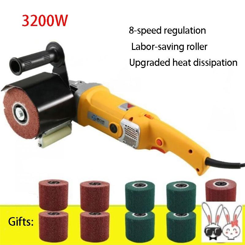 Wire drawing machine 2800W Small portable Marble ground grinding stone tile terrazzo polishing machine Multifunctional electric enlarge