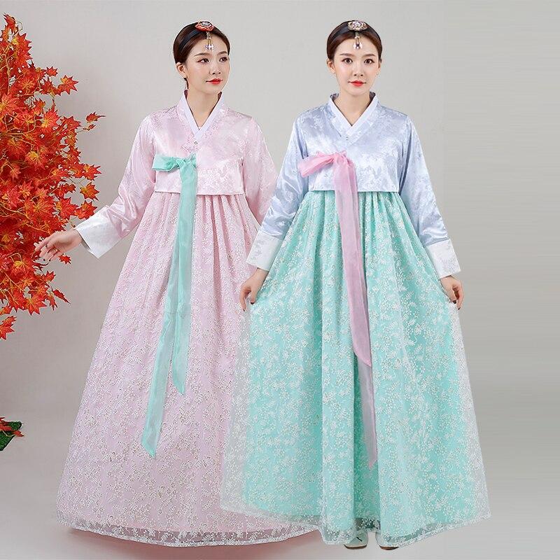 زي تقليدي للنساء ، فستان هانبوك فولك ، فستان أميرة قصر ، زي كوري أنيق ، مطرز ، فستان حفل زفاف SL2259