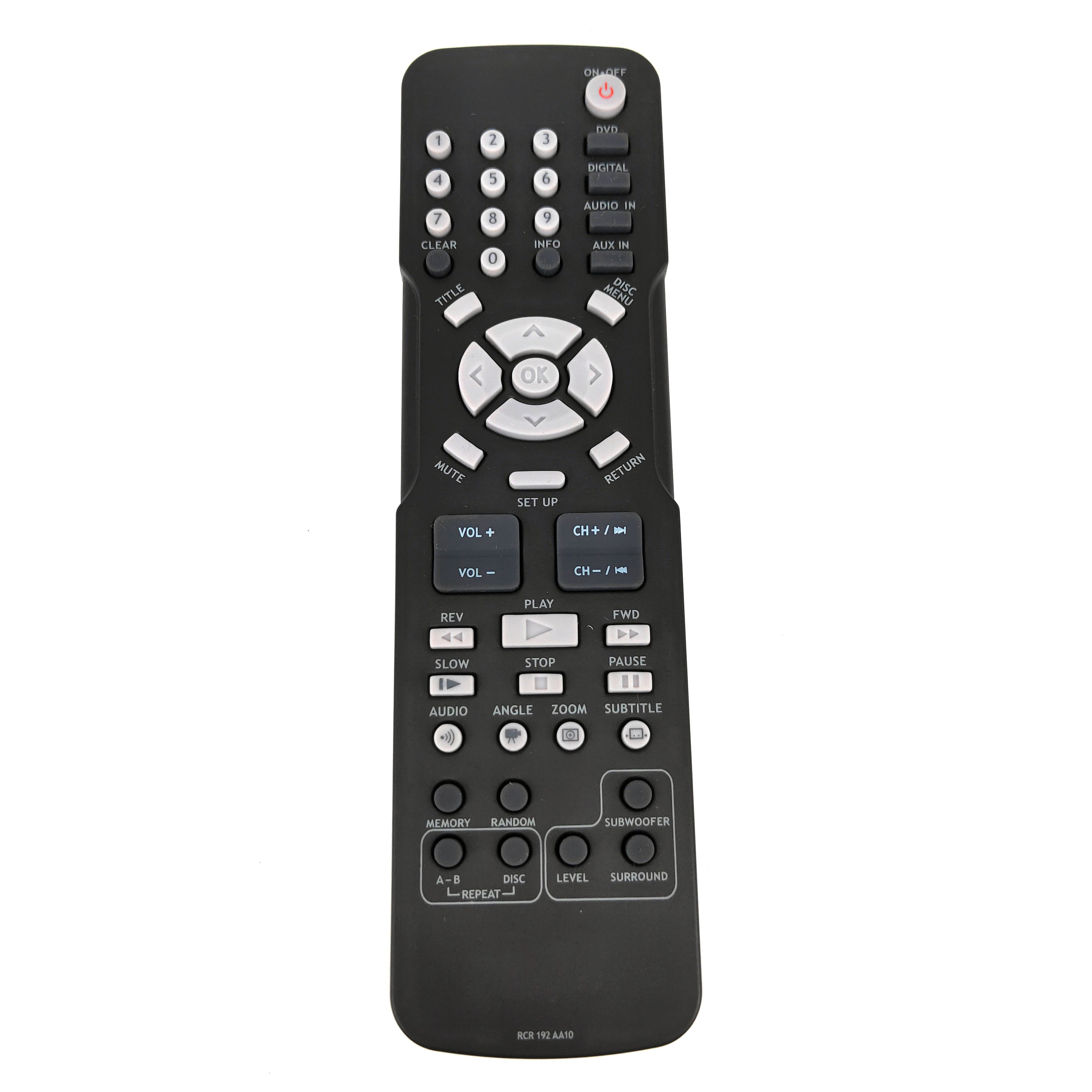 RCR192AA10 for RCA Home Theater DVD Remote Control for RTD3131 RTD3133 1RTD3133 RTD3136 Fernbedienung