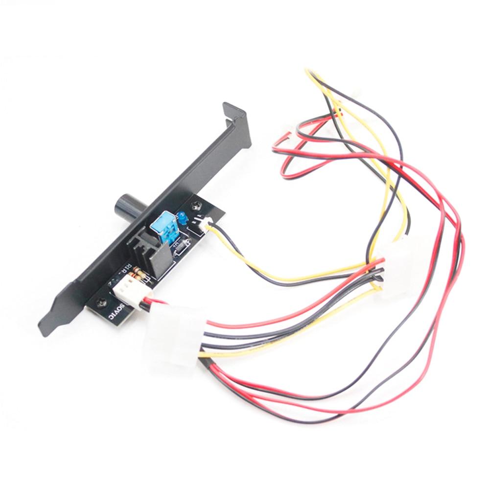 Accesorios del controlador de velocidad del ventilador, ordenador de escritorio de refrigeración, Manual de pomo 3 pines, Cubo de fácil uso, soporte de ajuste continuo, chasis duradero